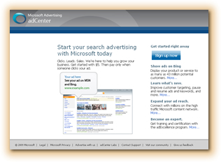 Microsoft adCenter Expert PPC Management Company